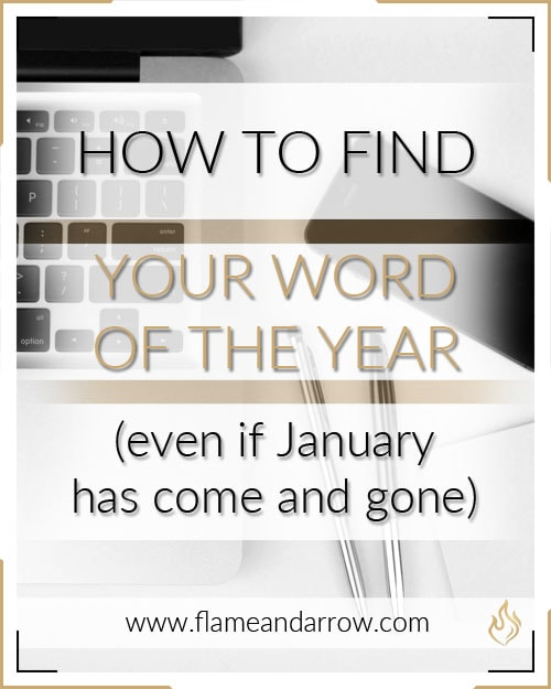 How to Find Your Word of the Year